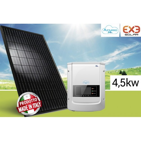 Imagén: KIT FOTOVOLTAICO 4,5KW EXE Solar + Inverter ZCS Azzurro