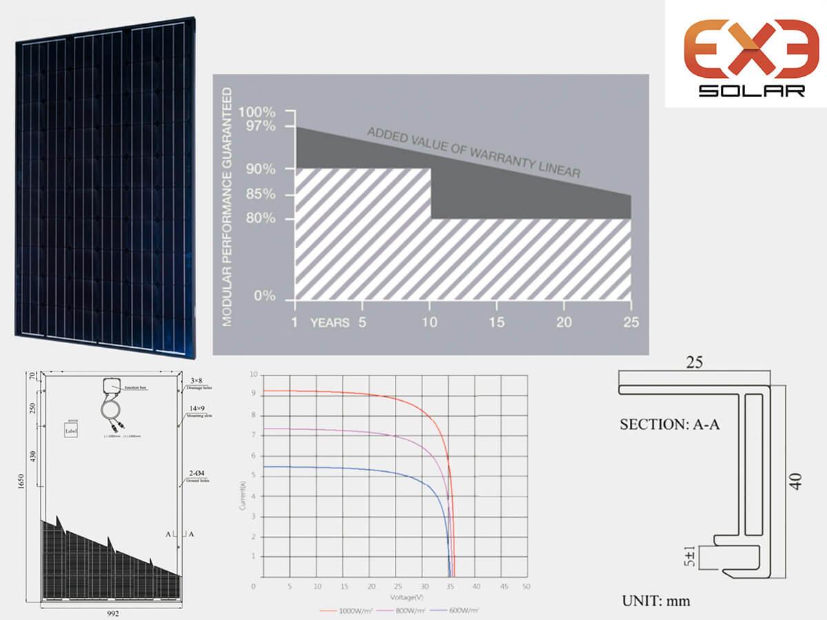 Moduli Fotovoltaici EXE Solar Monocristallino All Black